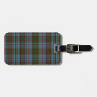 Anderson Clan Family Tartan Luggage Tag