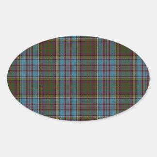 Anderson Clan Family Tartan Oval Sticker