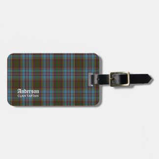 Anderson Clan Family Tartan (With name) Luggage Tag