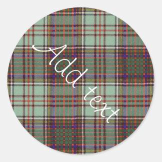 Anderson clan Plaid Scottish tartan Classic Round Sticker