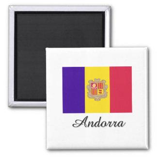 Andorra Flag Design Magnet