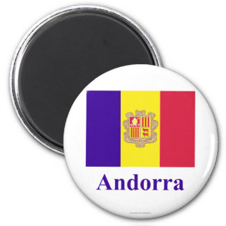 Andorra Flag with Name Magnet