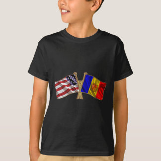 Andorra USA Friendship Flag T-Shirt