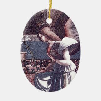 Andrea_Previtali_The_Annunciation_ca_1508 Christmas Ornament
