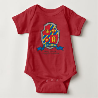 Andrew boys name & meaning knights shield baby bodysuit