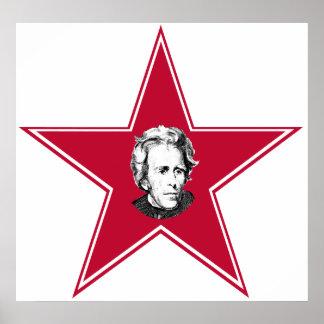 Andrew Jackson Star Poster