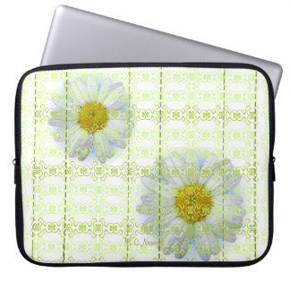 Andria Daisy Scroll and Stitches Tablet Sleeve