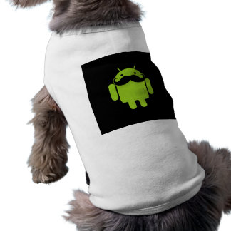 Android Robot Icon Mustache on Black Shirt