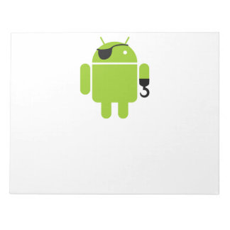 Android Robot Mighty Pirate Notepads
