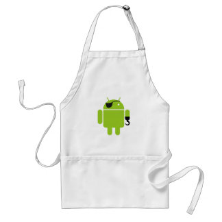 Android Robot Pirate Graphic Standard Apron