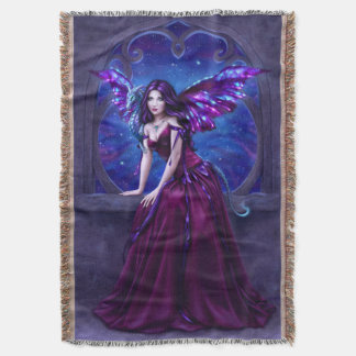 Andromeda Dragon Art Throw Blanket