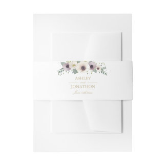 Anemone Bouquet Invitation Belly Band