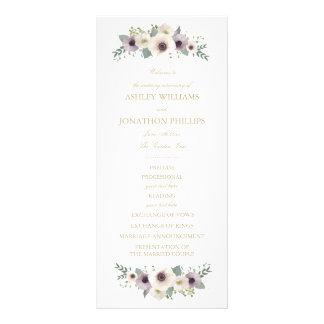 Anemone Bouquet Wedding Program Rack Card