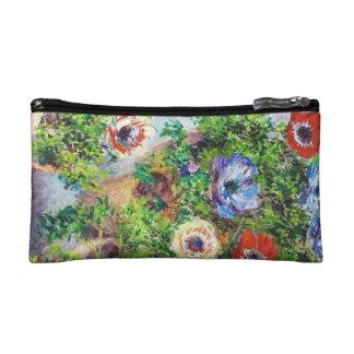 Anemones in Pot Claude Monet flower paint Cosmetic Bags