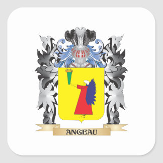 Angeau Coat of Arms - Family Crest Square Sticker