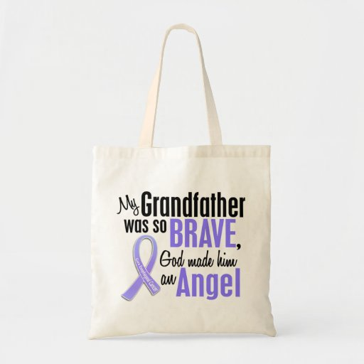 Angel 1 Grandfather Esophageal Cancer Tote Bags