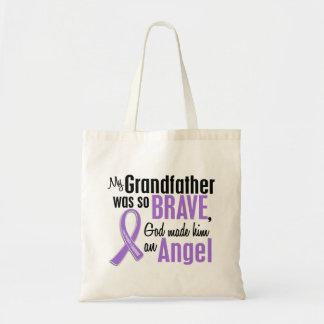 Angel 1 Hodgkins Lymphoma Grandfather Canvas Bags
