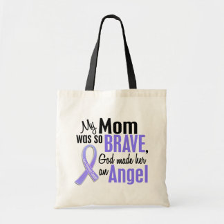 Angel 1 Mom Stomach Cancer Canvas Bags