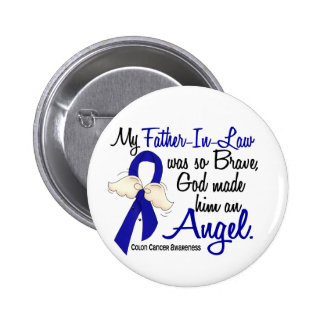 Angel 2 Father-In-Law Colon Cancer 6 Cm Round Badge