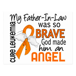 Angel 2 Father-In-Law Leukemia Postcard
