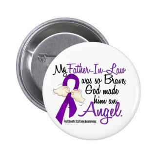 Angel 2 Father-In-Law Pancreatic Cancer 6 Cm Round Badge