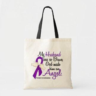 Angel 2 Husband Pancreatic Cancer Tote Bags