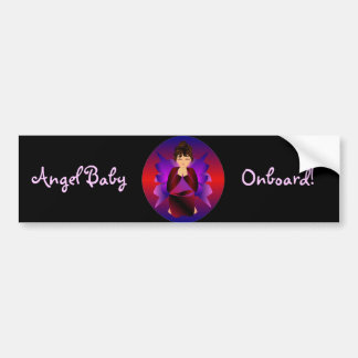 """Angel Baby Onboard I"" Bumper Stickeer- Customized Car Bumper Sticker"