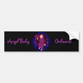 """""""Angel Baby Onboard II"""" Bumper Sticker Car Bumper Sticker"""