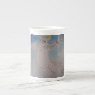 Angel Cat Bone China Mug
