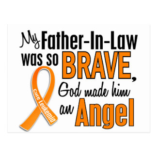 Angel Father-In-Law Leukemia Postcards