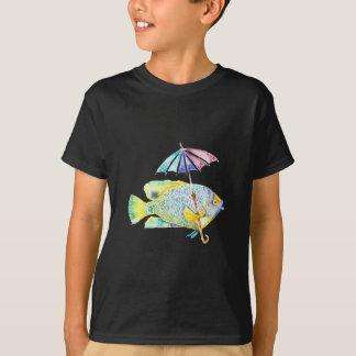 Angel Fish With Umbrella T-Shirt