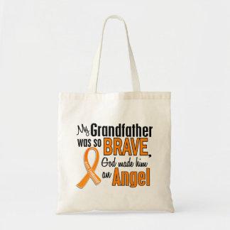 Angel Grandfather Leukemia Budget Tote Bag