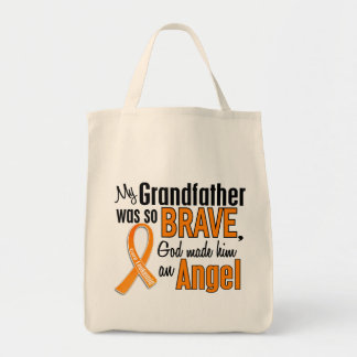 Angel Grandfather Leukemia Grocery Tote Bag