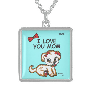 Angel I Love You Mom Necklace