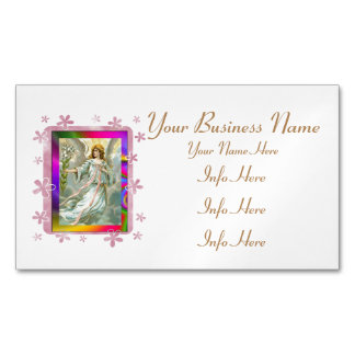 Angel In Blue Magnetic Business Cards