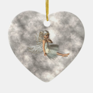 Angel in the Clouds Christmas Ornament