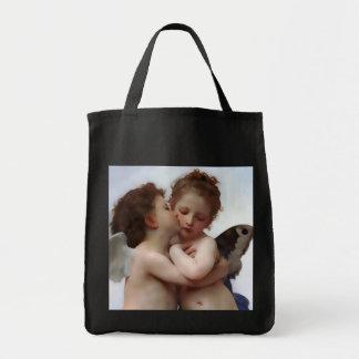 Angel Kiss Grocery Tote Bag