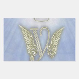 Angel Monogram Rectangle Sticker