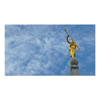 Angel Moroni on Salt Lake Temple Poster