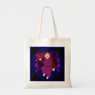 Angel Of Hearts In Natural I Budget Tote Bag