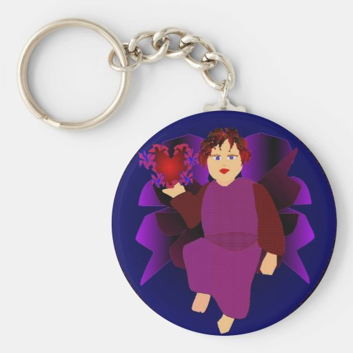 Angel Of Hearts Key Chains