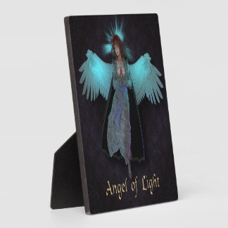 """Angel of Light 5.25""""x5.25"""" Photo Plaque with Easel"""