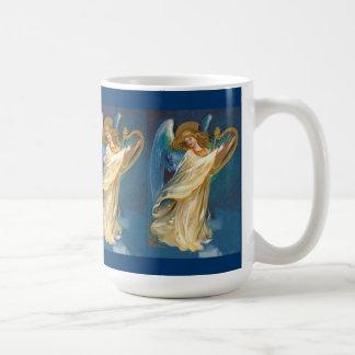 Angel Playing Music On A Harp Coffee Mug