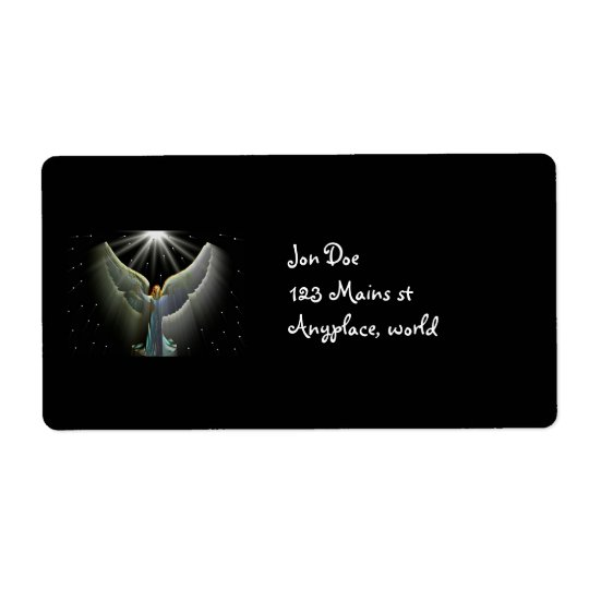 Angel Power Shipping Label