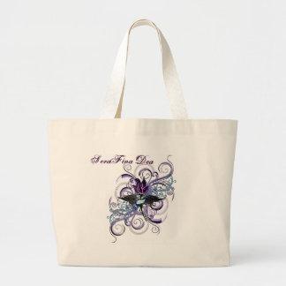 Angel Rose Swirl Tote Bags