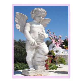 Angel Statue In Pink And Grey III Personalized Invitation