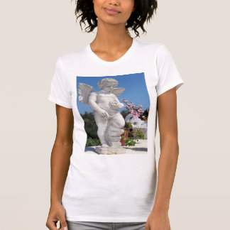 Angel Statue In White T-Shirt