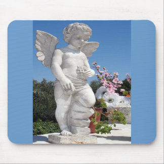 Angel Statue Mouse Pad