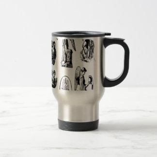 Angel vectors design travel mug