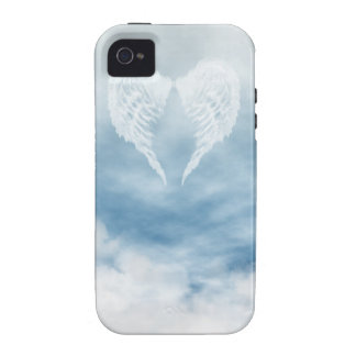 Angel Wings in Cloudy Blue Sky iPhone 4 Covers